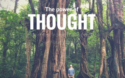 The power of thought comes from the space surrounding it